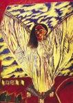 El diablo Frida con disfraz de ángel